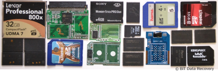 Data recovery memory card